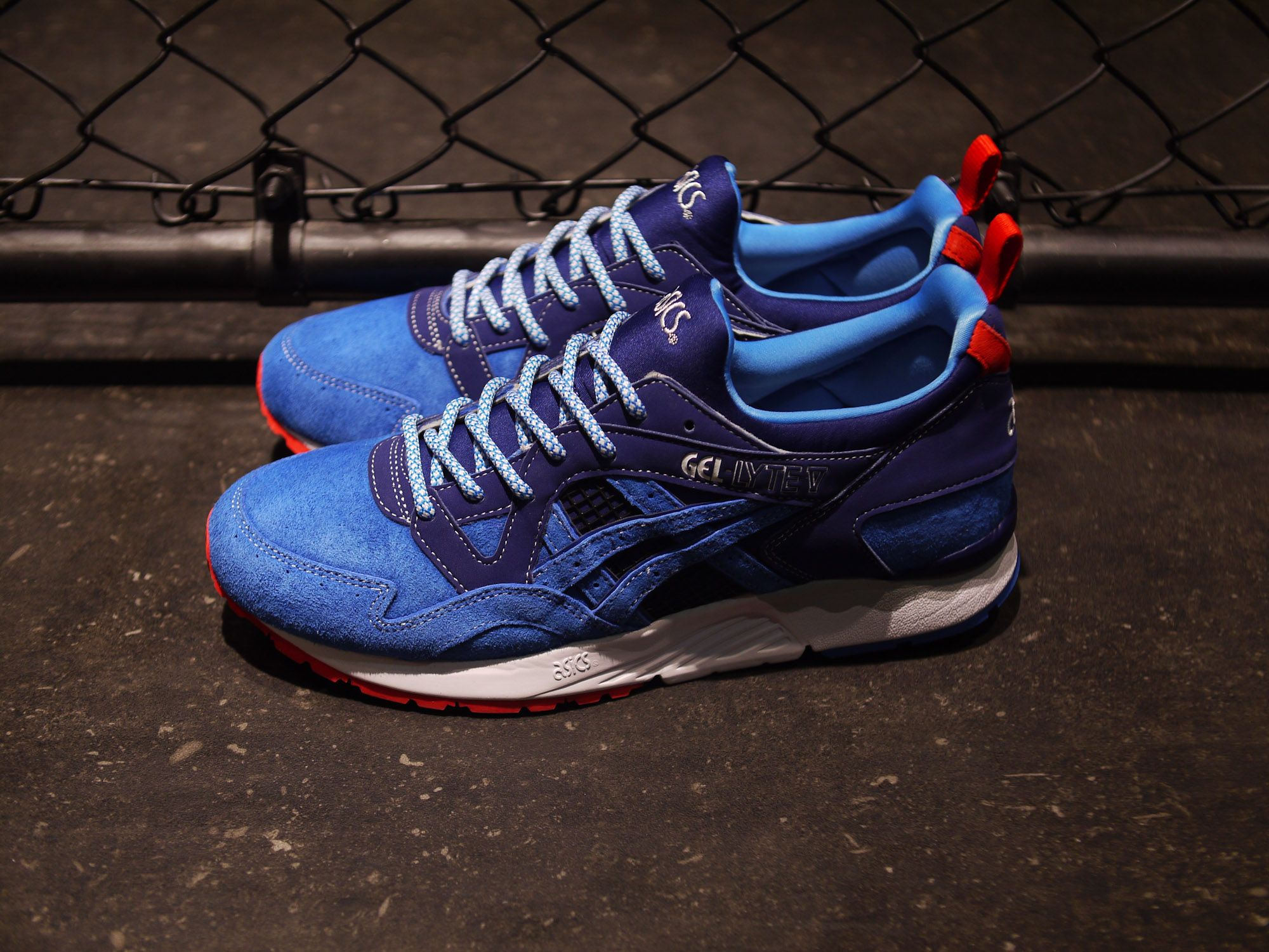 Closer look at the beautiful ASICS Gel-Lyte V X Mita Trico.