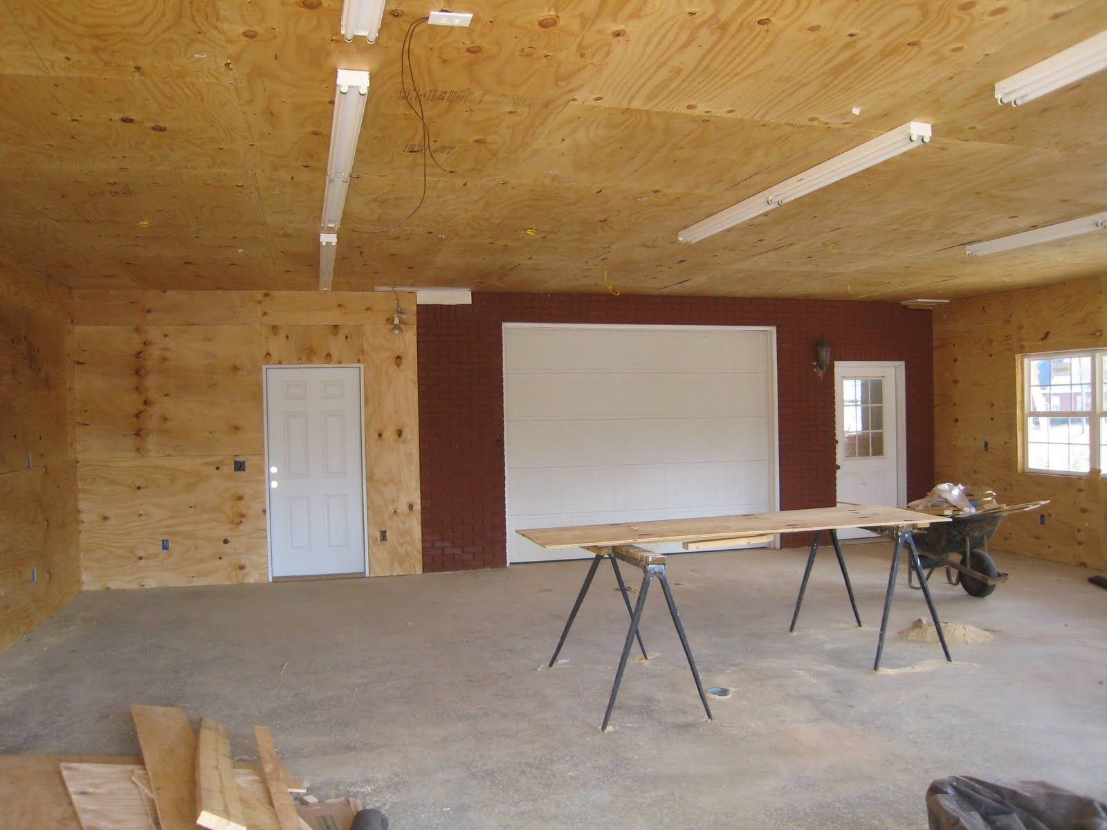 Plywood garage pinterest