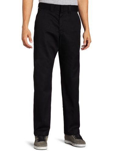 dickies mens relaxed straight fit pant black pants men on cheap insulated coveralls for men id=97934