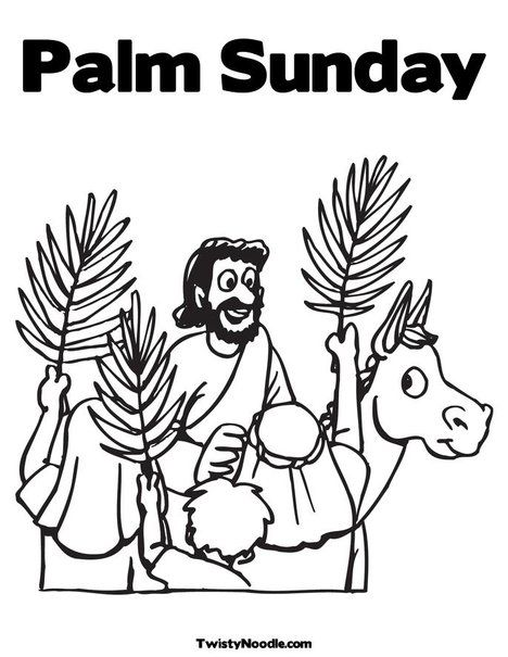 Palm Sunday Coloring Page from TwistyNoodle.com | Happy Days ...