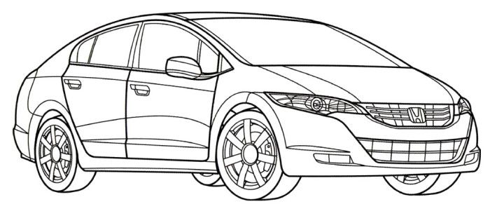 honda fcx clarity coloring page