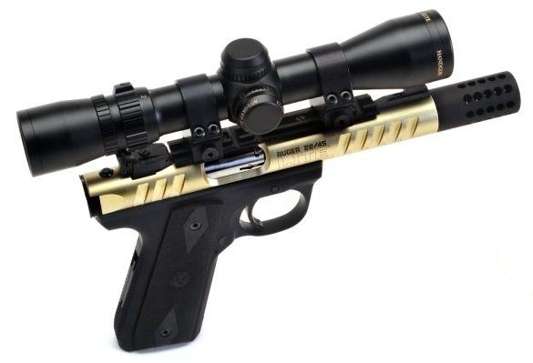 Real Guns - Ruger's 22/45 LITE - Gold   Rimfire guns ...  Real Golden Guns