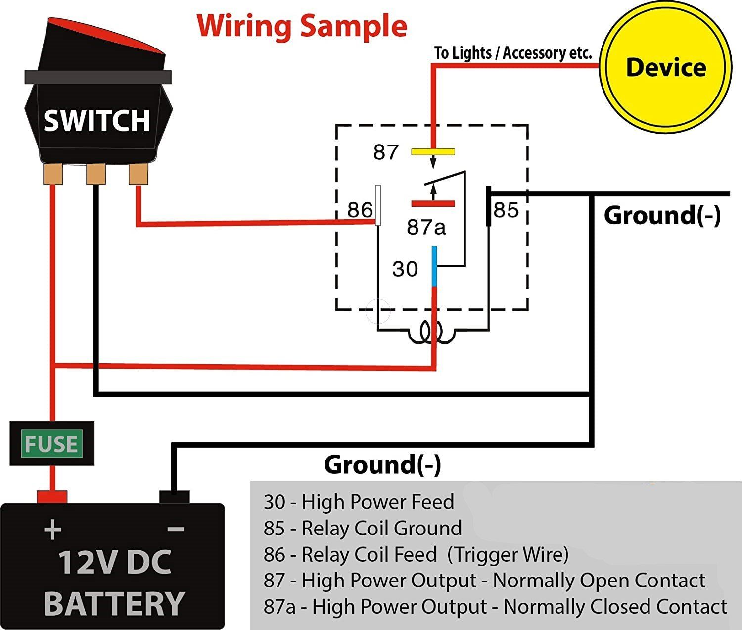 5 Absolute USA 12V 30/40 Amp SPDT Automotive Bosch / Tyco Style 5 Pin Relay  with Wires & Harness Socket in 2021 | Electrical circuit diagram, Relay, Electrical  wiring diagramPinterest