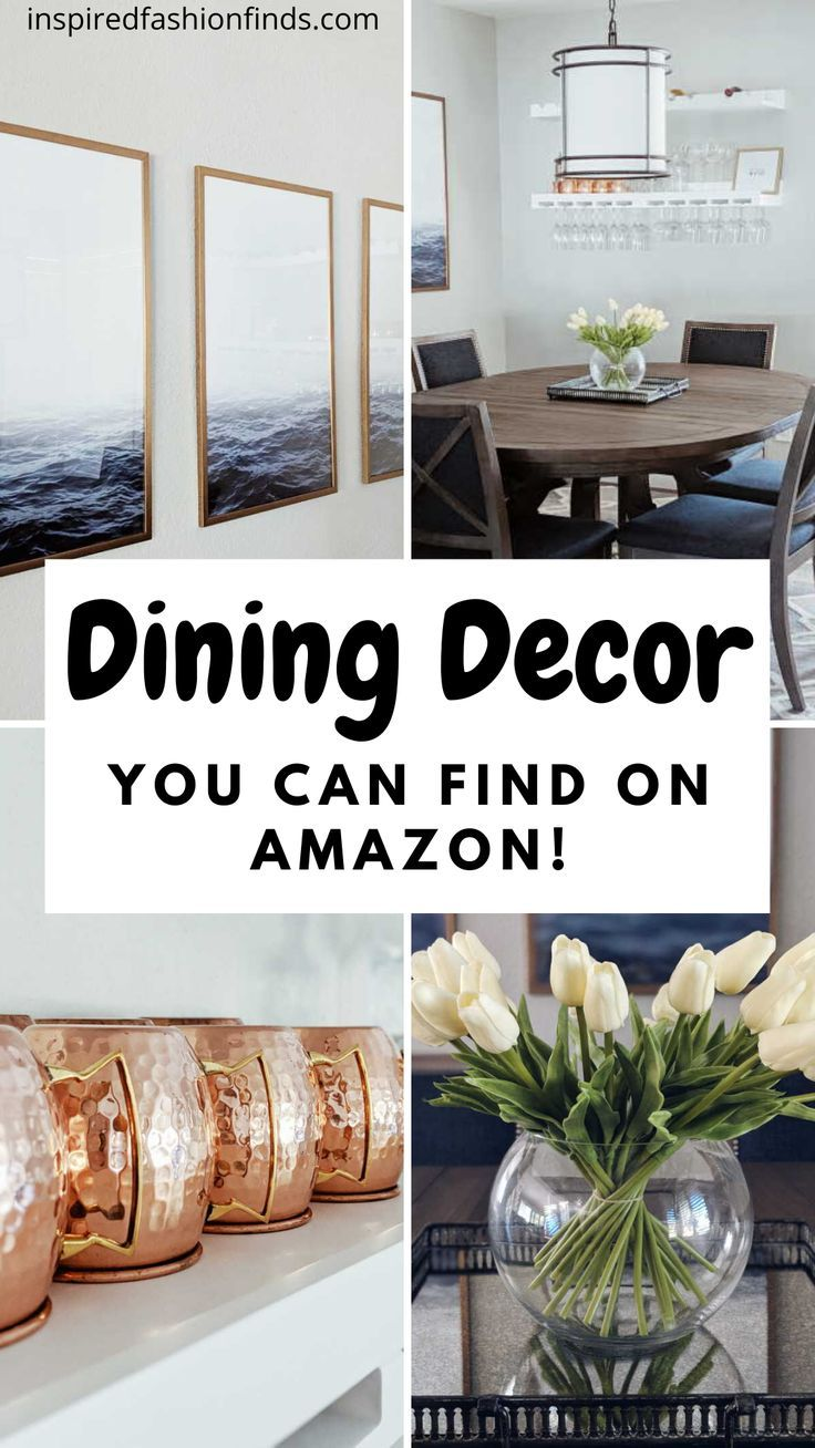 Yes, you read that right! Dining room decor from Amazon!? Check out these budget friendly items! #budgetfriendlydecor #diningroom #diningroomdecor #amazondecor #amazonprime #shopdiningroom #homedecor #budgetfriendlyhomedecor #momlife #mom