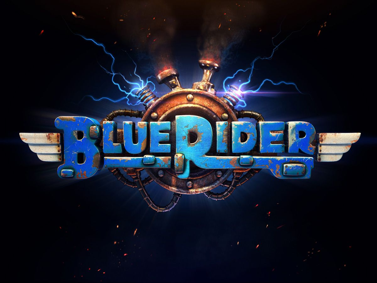 Steam Greenlight Blue Rider Game logo design, Blue