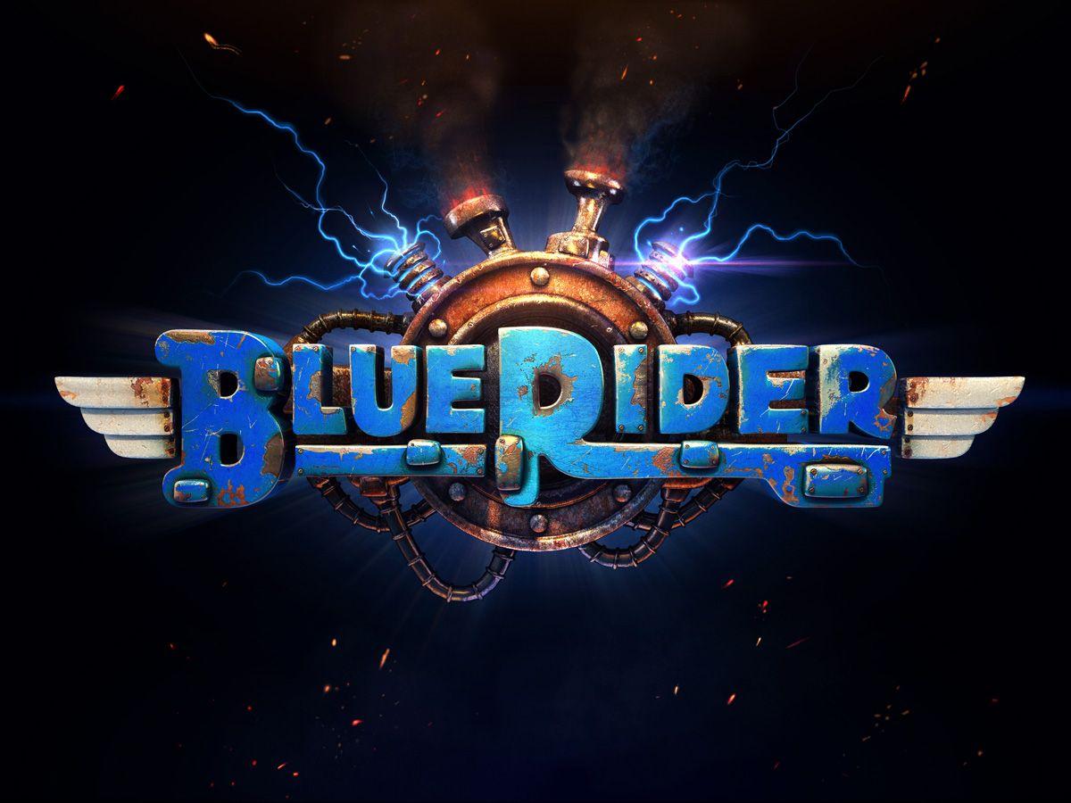 Steam Greenlight Blue Rider Game logo design, Blue