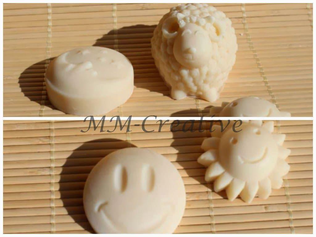Sonne, Mond, Smiley und Schaf :-), Seife, soap, selbst gesiedet