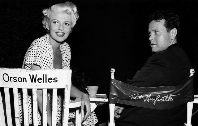 Orson Welles y Rita Hayworth en el set de 'La dama de Shanghái'