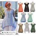 BRYN WALKER Light Linen AMY TUNIC Lon...