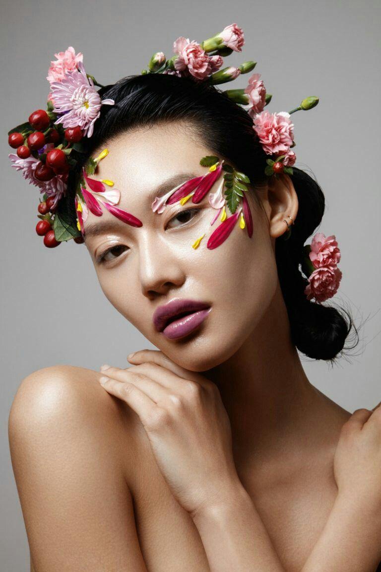 Pin by vivian dang on floral photoshoot pinterest makeup