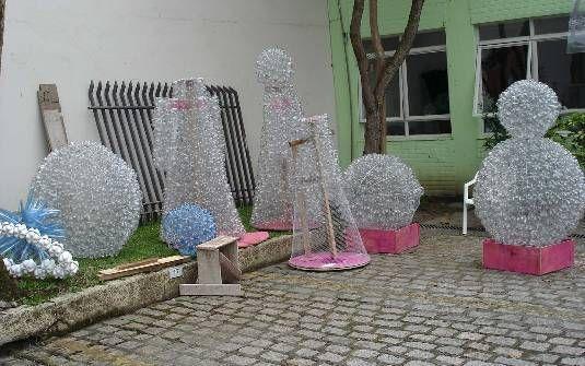 Decoraciones navide as con botellas de pl stico navidad - Decoraciones navidenas con reciclaje ...