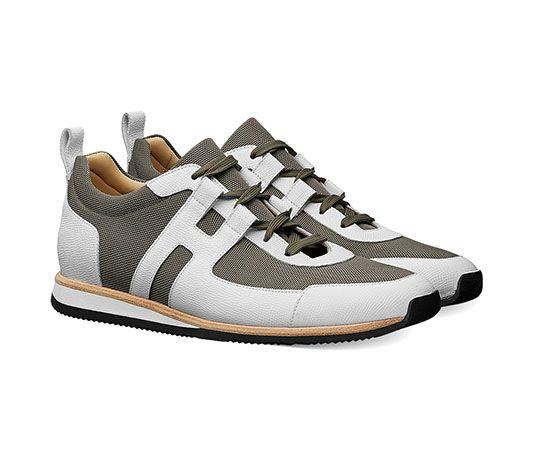 51c236f63 Hermes men s sneaker in technical canvas and Epsom calfskin