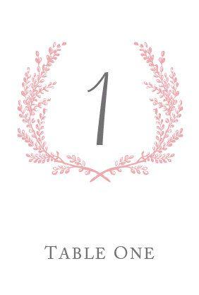 Sweet Vintage Wedding Table Number Signs 1-30 - Custom 2-Color Table Numbers