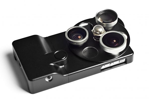 A complete three-lens optical system for serious iPhoneographers