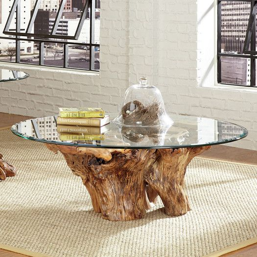 Hammary Hidden Treasures Root Ball Coffee Table living room