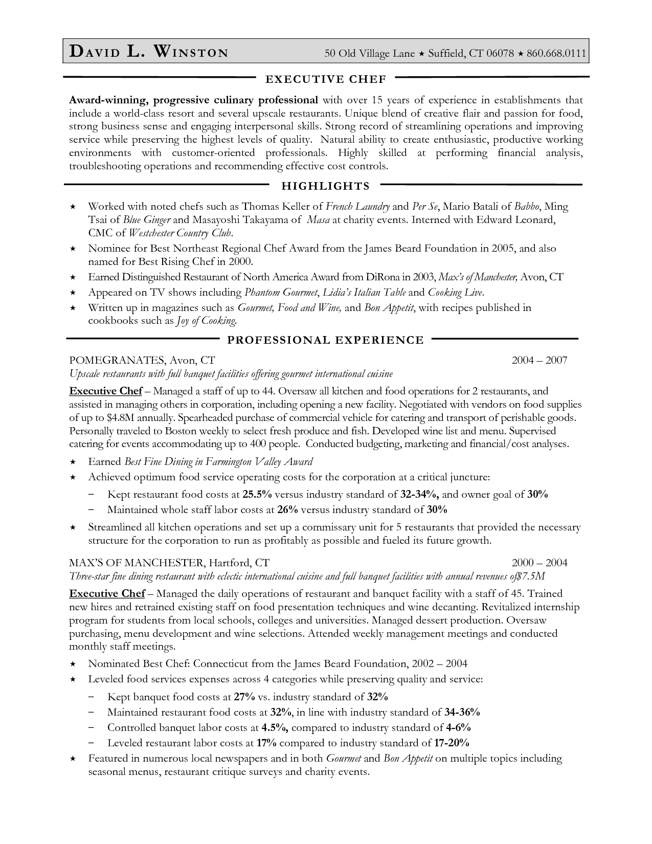 Executive Chef Resume Pastry Chef Resume Samples  Httpwwwjobresumewebsitepastry