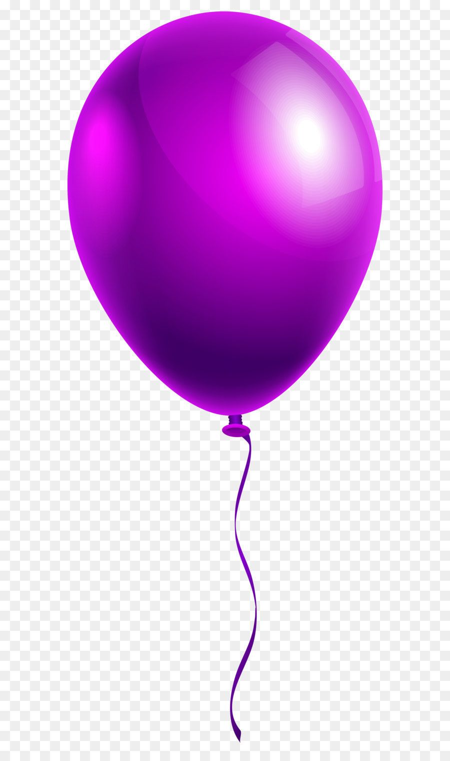 Balloon Clip Art Single Purple Balloon Png Clipart Image
