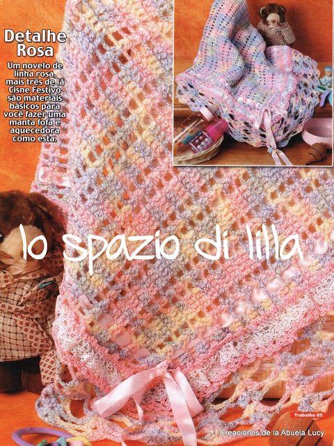Lo Spazio Di Lilla Copertina Per Neonato Crochet Dettaglio
