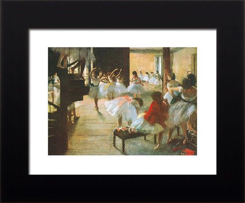 Edgar Degas Ballet Rehearsal Girls Dancing Framed Print Limited RARE ** BIHI