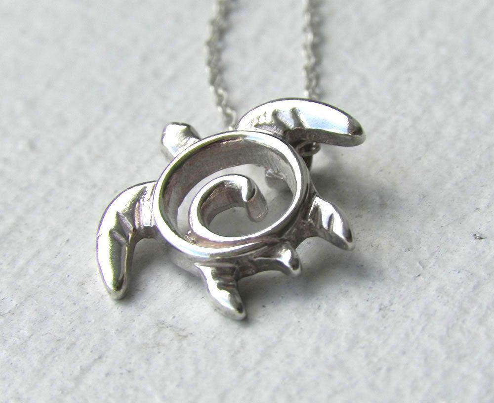 Sea turtle necklace turtle necklace sea turtle pendant sea turtle necklace turtle necklace sea turtle pendant handcrafted swirl turtle sterling silver aloadofball Choice Image