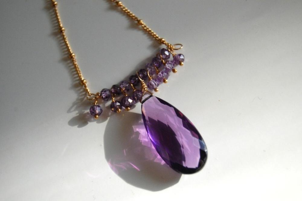 Jewelry necklace necklace silver crochet Silverfoil cubes green purple