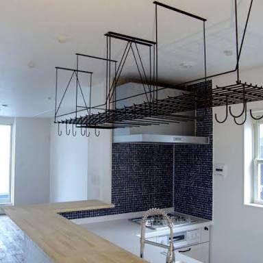 キッチン 水切り棚 アイアン の画像検索結果 キッチン 吊り棚 キッチン 水切り