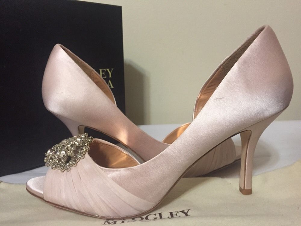 603e84c4d7a5 Badgley Mischka Pearson Light Pink Satin Women s Dressy Evening Heels Pumps  8 M  BadgleyMischka  DressyEveningOpenToeHeelsPumps   ...