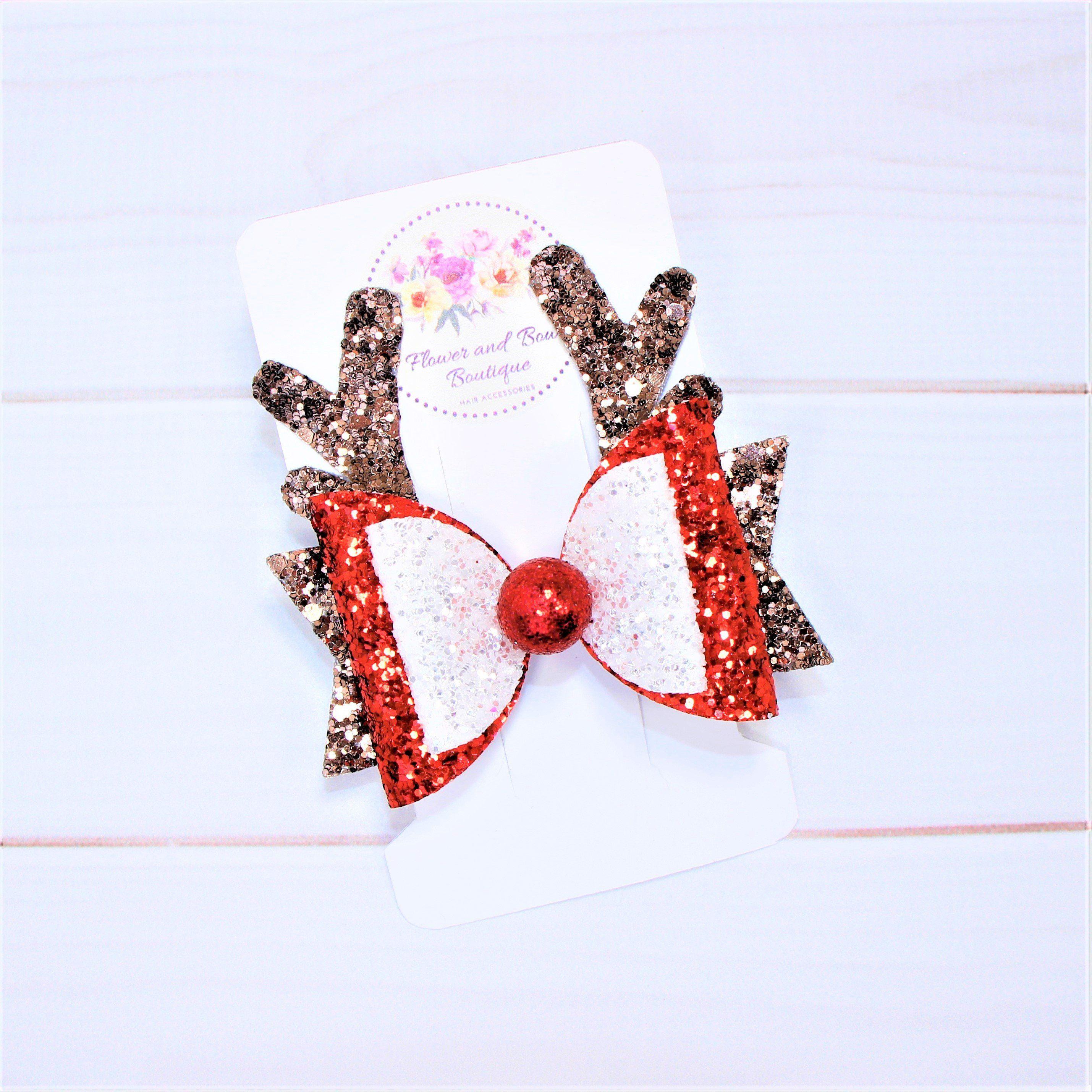 christmas  hair bows hair clips Glitter hair bow baby headbands christmas headband girls hair bows