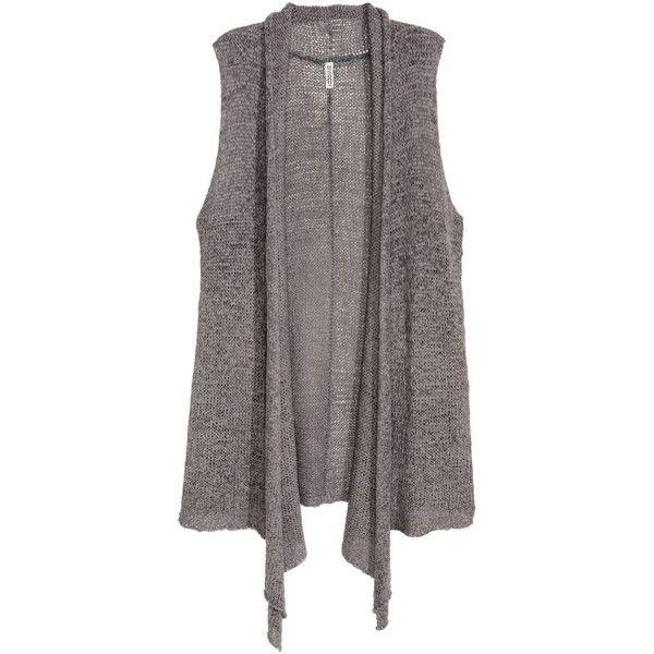 Knit Vest $24.99 ($25) via Polyvore featuring outerwear, vests, lapel vest, knit vest, vest waistcoat, red vest and red waistcoat
