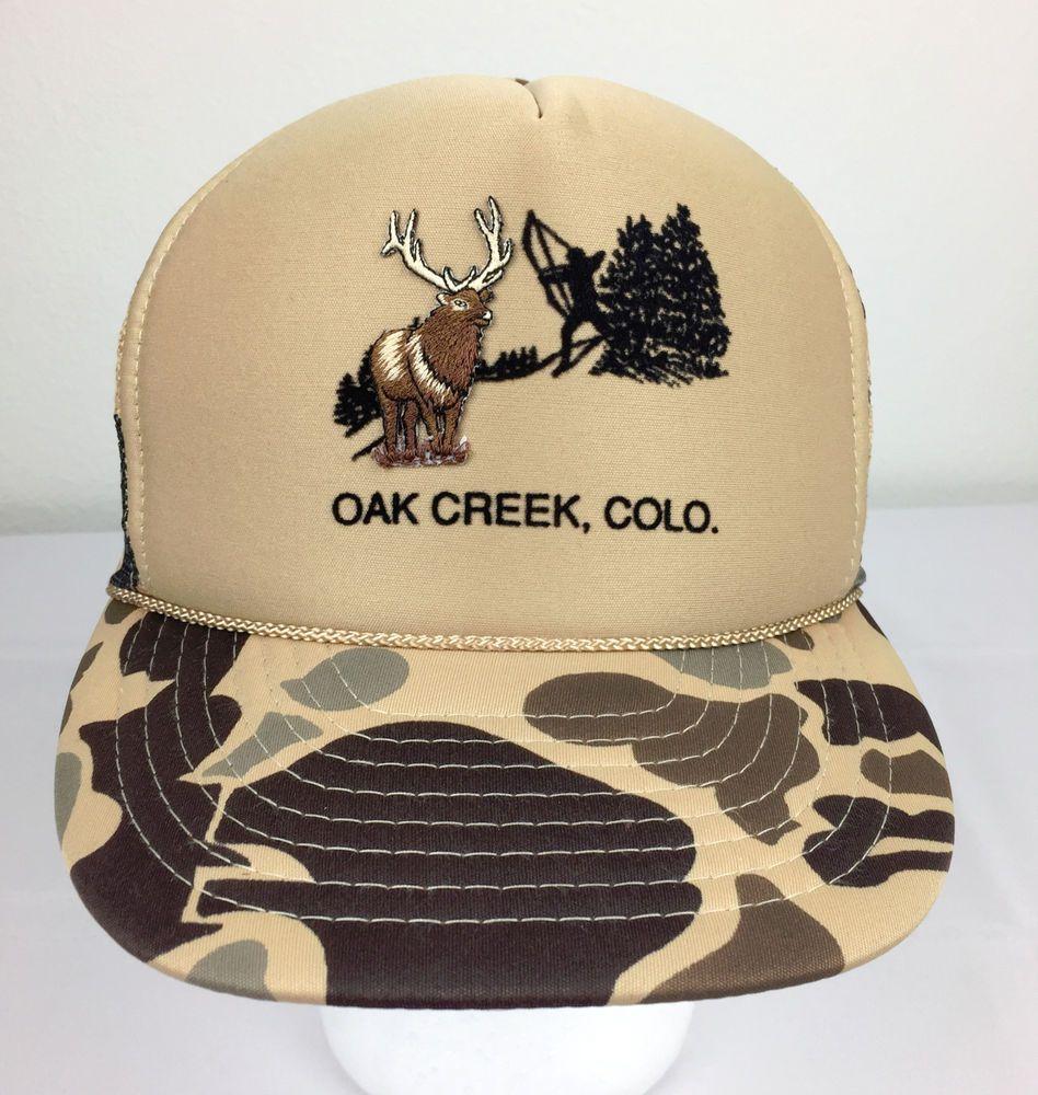 a9bd245f8d1 ... low price vtg oak creek colorado bowhunting buck elk camouflage trucker snapback  hat cap nissin trucker