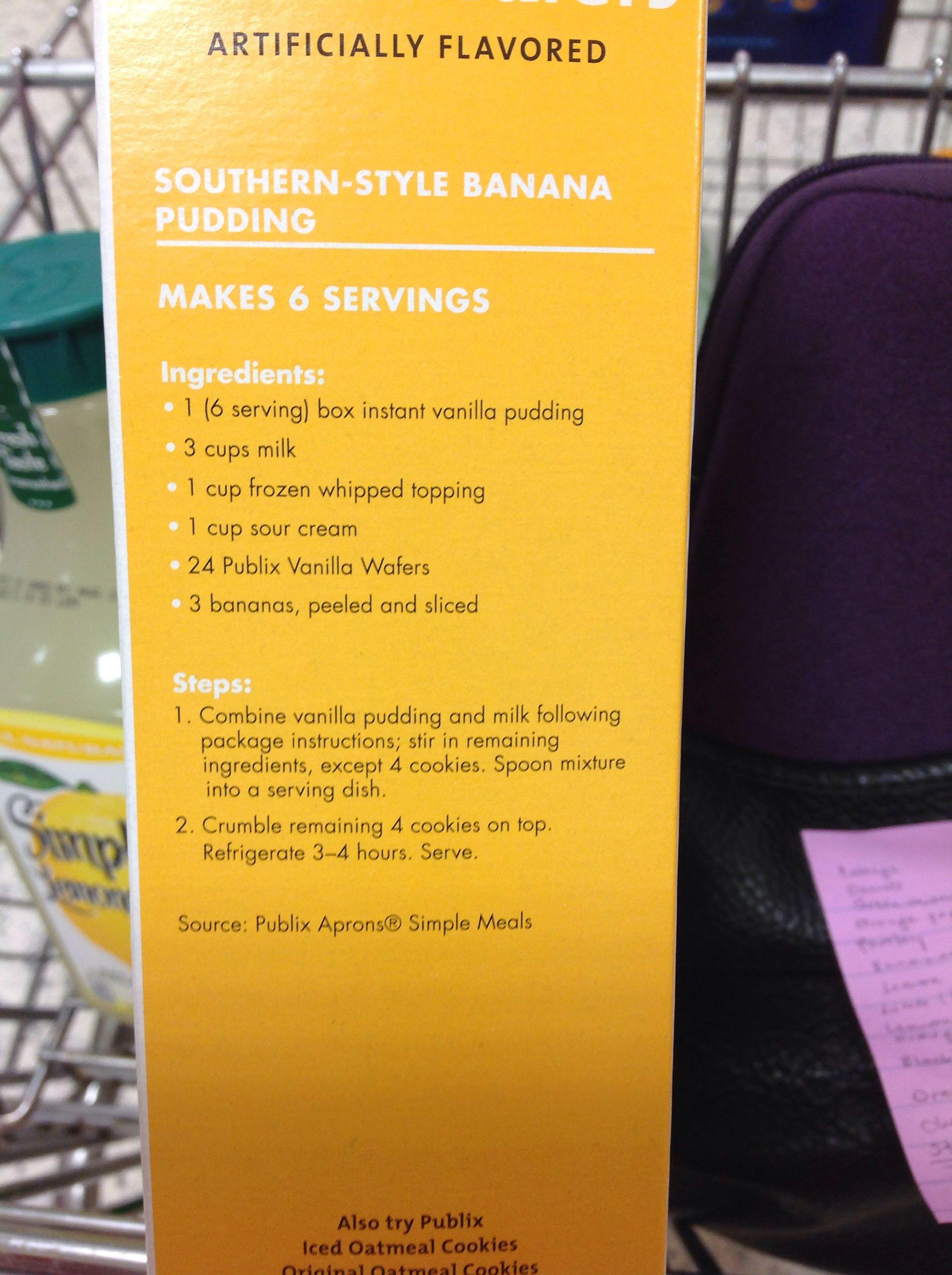 Publix Banana Pudding Recipe Banana Pudding Banana Pudding Recipes Pudding Recipes