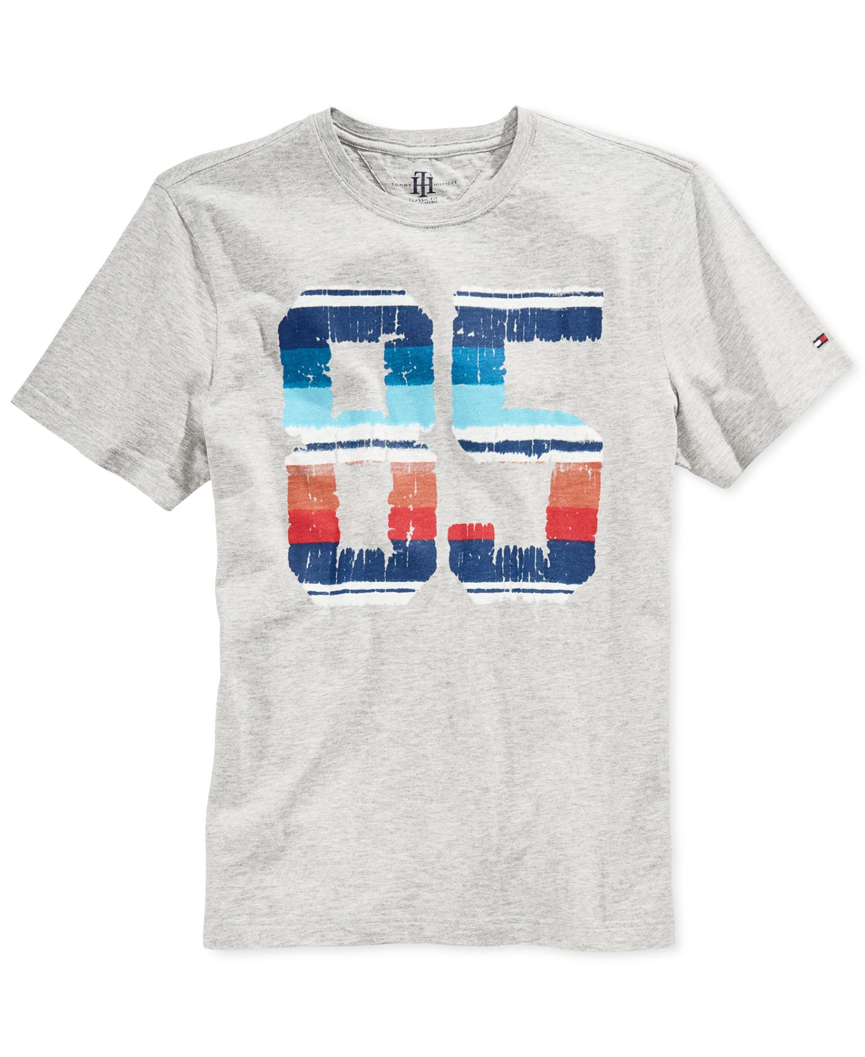 Tommy Hilfiger Mens Old Skool Graphic T Shirt   Wish