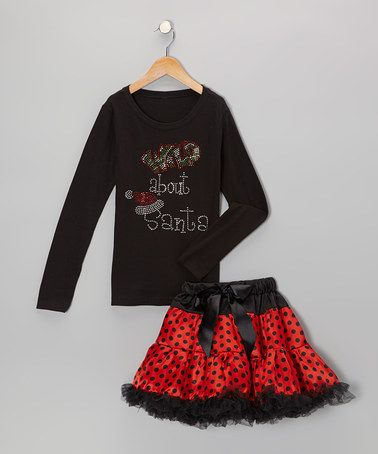 Take a look at this Black 'Wild' Tee & Red Pettiskirt - Infant, Toddler & Girls by So Girly & Twirly on #zulily today!