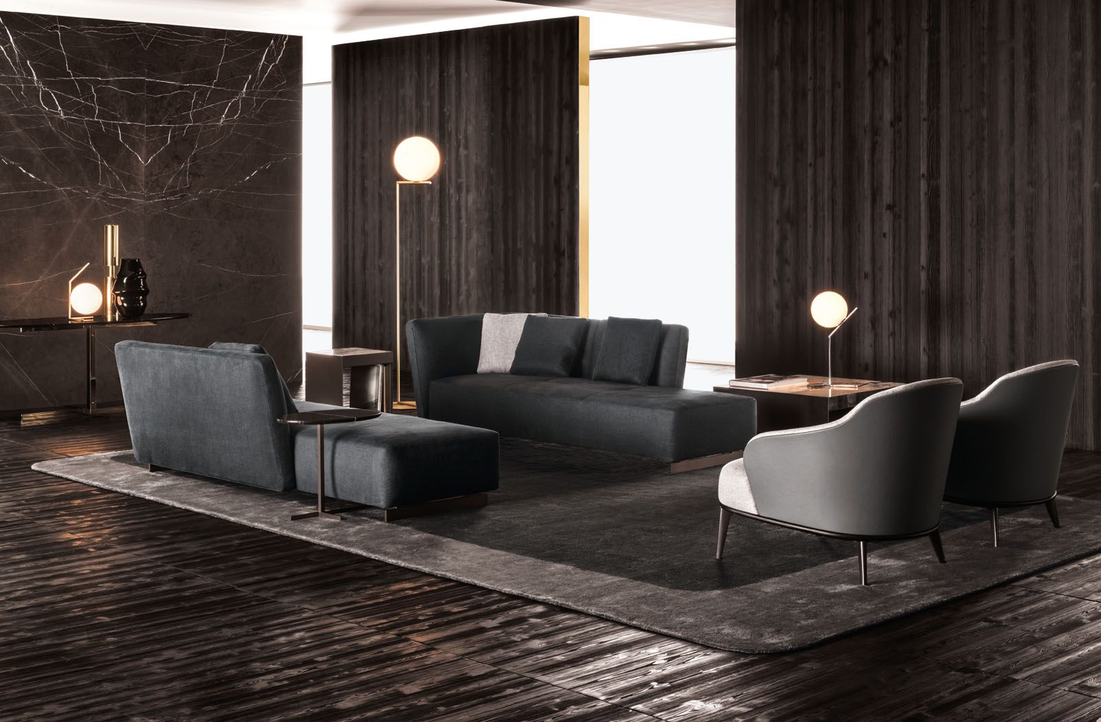 Lounge seymour seating system and leslie armchairs for Mobili italiani design