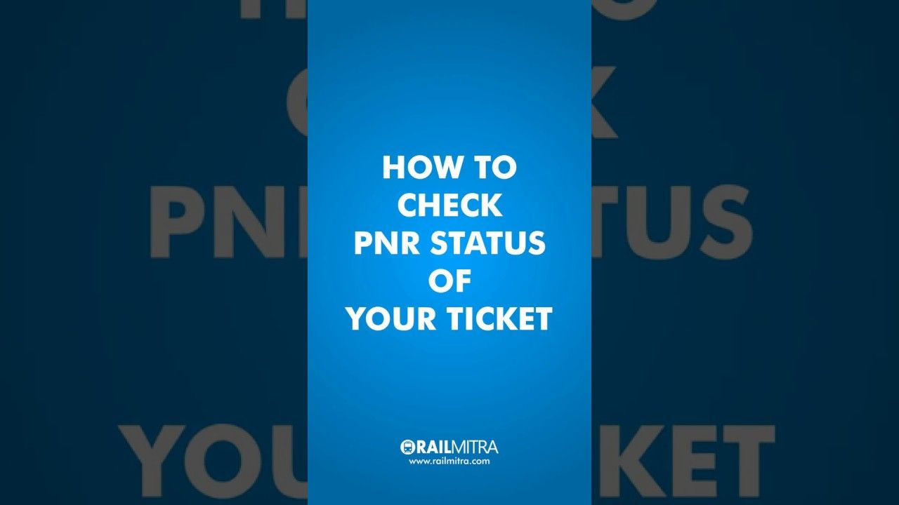 How To Check Pnr Status Confirmation Probability At Railmitra Pnrstatus Pnr Indianrailways Ticket Pnr Status Travel Tips