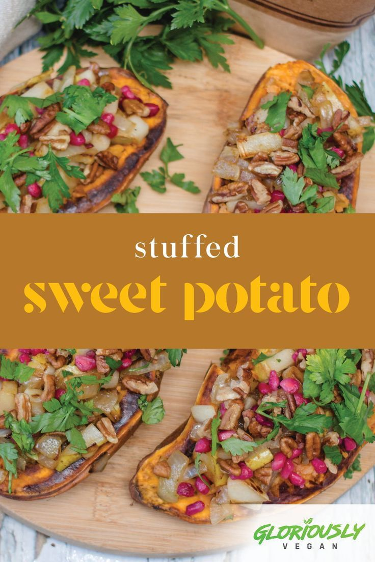 Try this Vegan Stuffed Sweet potatoes  recipe! With these easy cooking steps you will surely love th...
