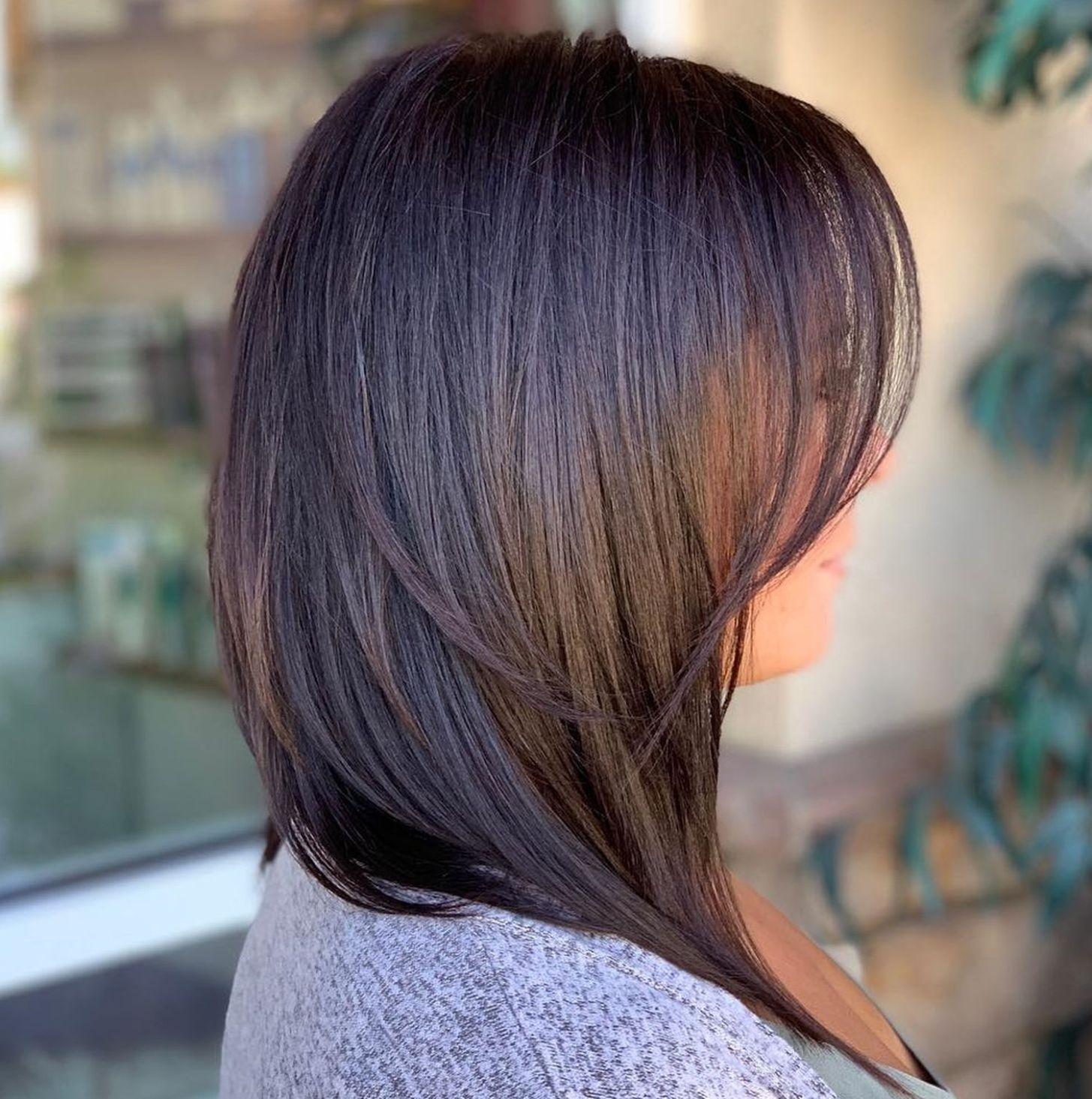 Smooth A-Line Bob in 2020 | Straight hairstyles, Medium length hair styles, Choppy bob hairstyles