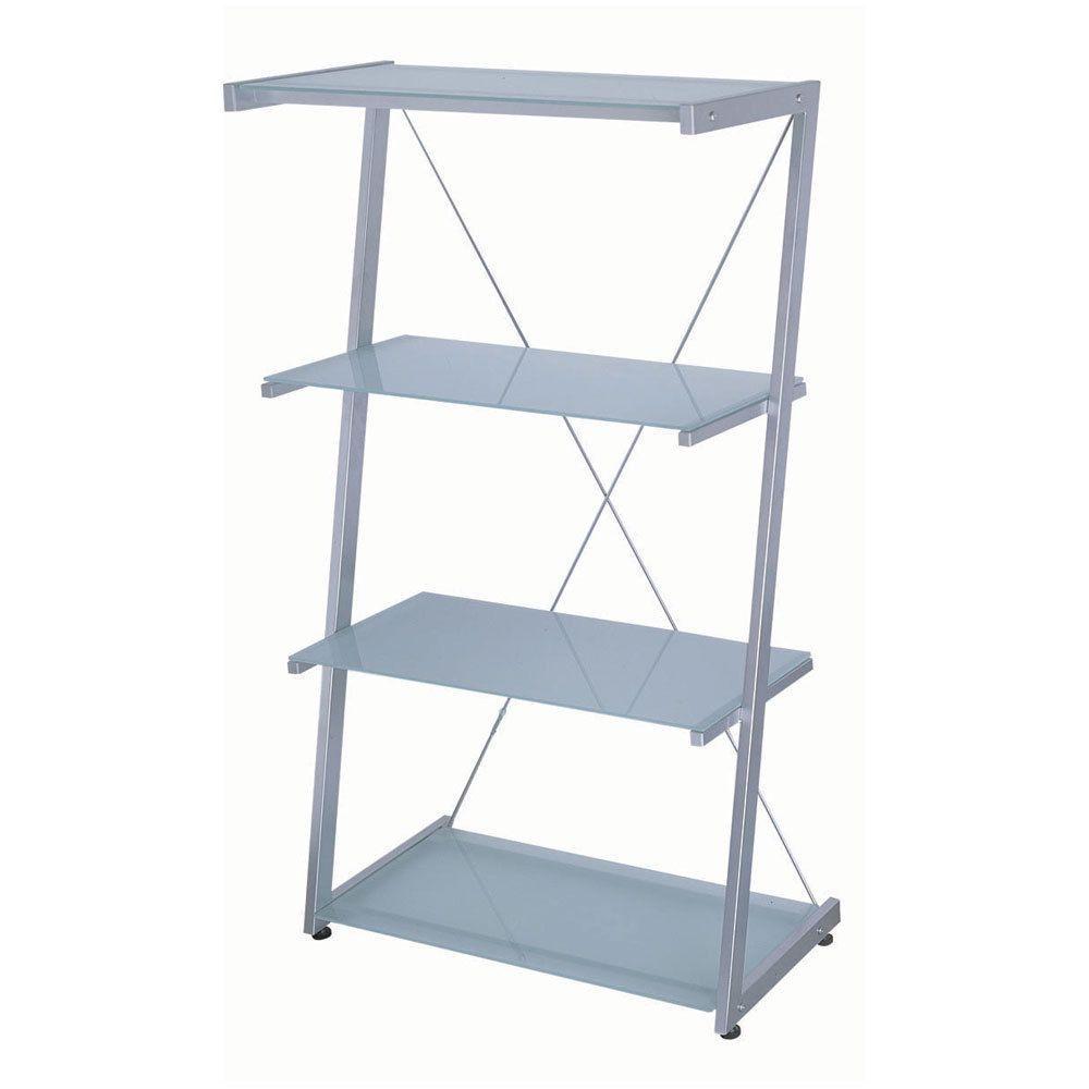 Dainolite 30 Inch Wide 4 Tier Frosted Gl Shelves Bookcase 30inchwidewardrobe