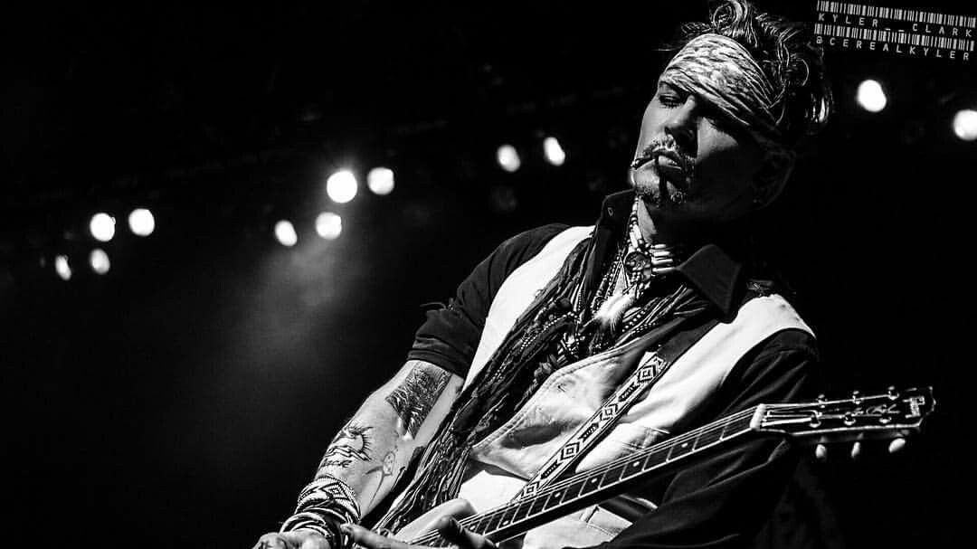 Johnny Depp  (7 - 6 - 2016 Hollywood Vampires performance at Summerfest in Milwaukee, WI. )