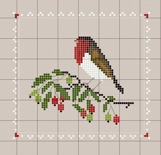 oiseau   Cross Stitching   Pinterest - Kruissteken ...
