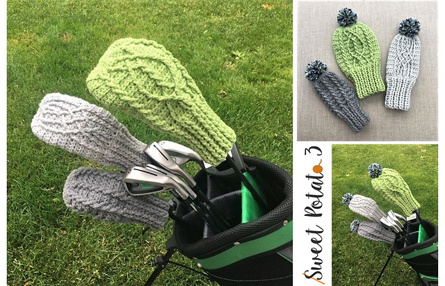 Cable Golf Club Covers pattern by Sweet Potato 3 Crochet