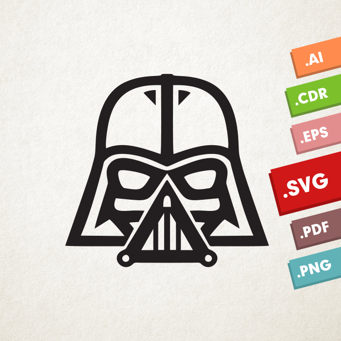 Darth Vader SVG, Vector files. Instant download design