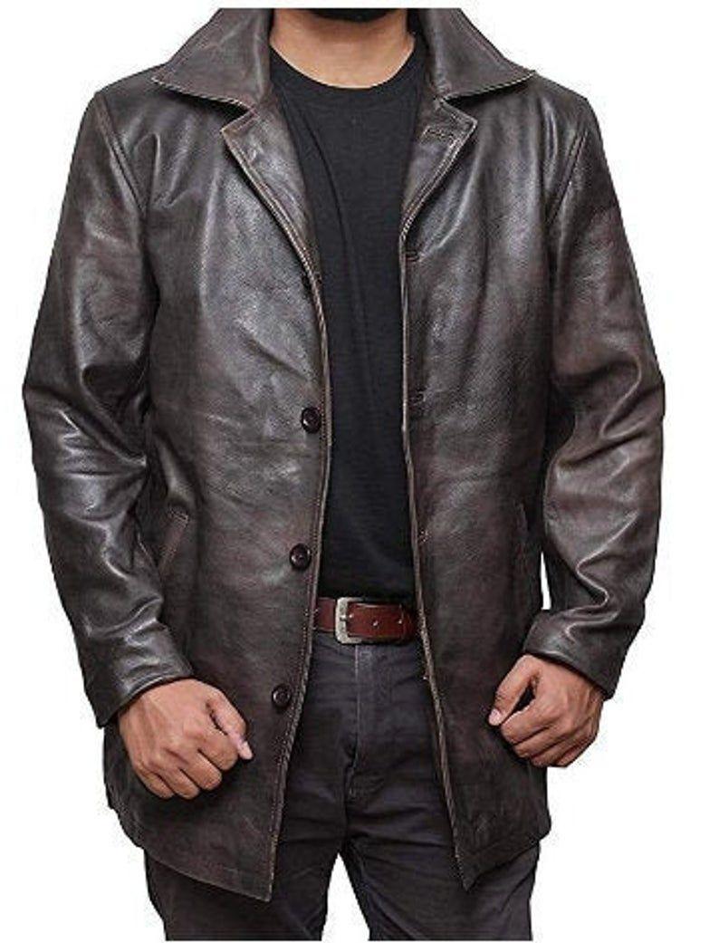 Mens Antique Brown Natural Distressed Leather Coat Premium Quality Herren Leder Mantel Echtleder Jacke In 2021 Leather Jacket Leather Jacket Men Brown Leather Jacket Men [ 1041 x 794 Pixel ]