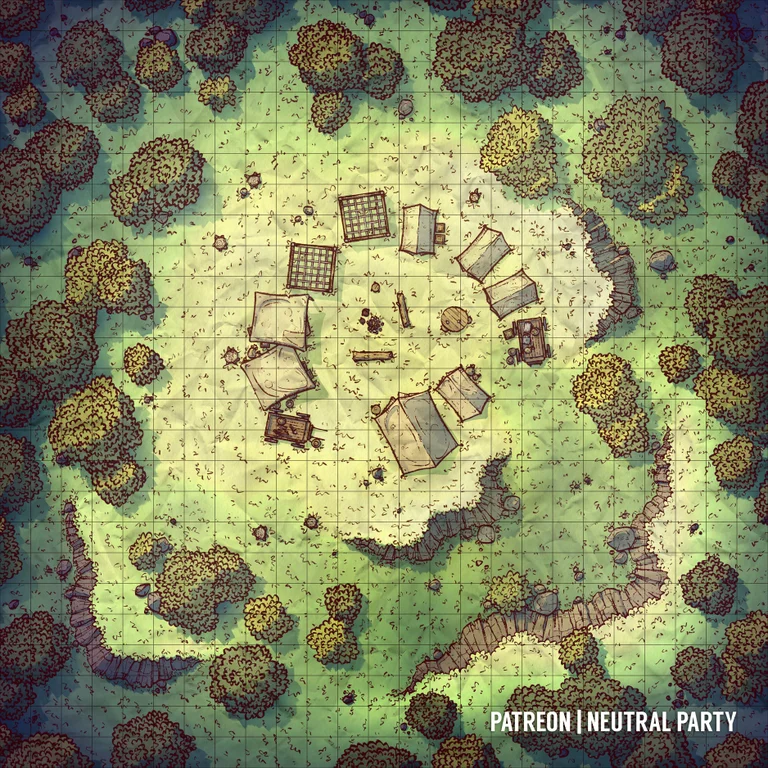 Bandit Camp In The Woods : Dndmaps