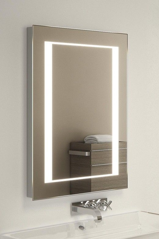 Lucky Shaver Led Mirror H 700mm X W 500mm X D 45mm Illuminated Mirrors Led Mirror Mirror Mirror Cabinets