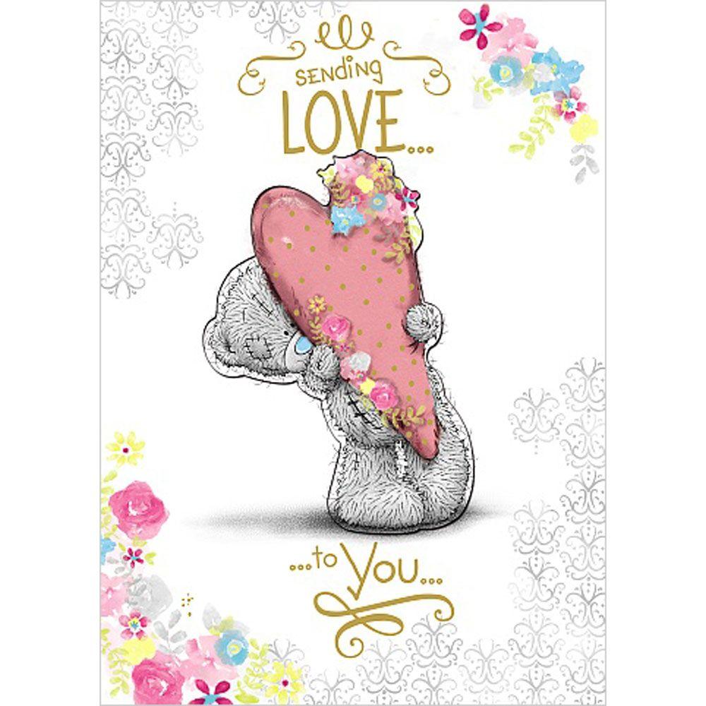 Sending Love Me To You Bear Birthday Card Teddy Bear Pictures Tatty Teddy Bear Card