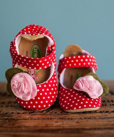 Look at this #zulilyfind! Red & White Strawberry Shortcake Mary Jane by Gracious May #zulilyfinds
