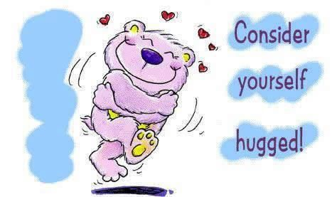 Consider yourself hugged!