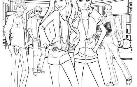 barbie coloring page free download  barbie coloring pages