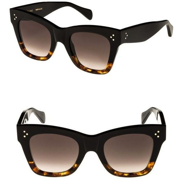 30a858d19ffa Women s Celine 50Mm Gradient Butterfly Sunglasses ( 410) via Polyvore  featuring accessories